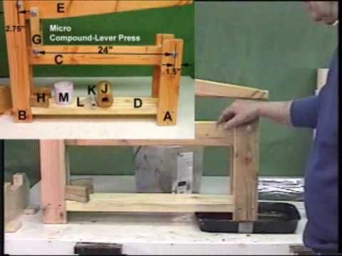 Good for cheese Making? Small (Micro) Biomass Fuel Briquette Presses made from Wood - YouTube