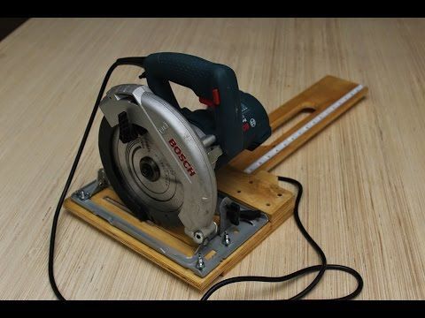 ▶ Circular Saw - Rip Cut Jig - YouTube (Just mute the volume; trust me)