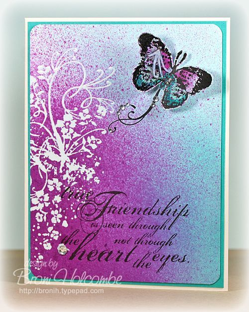 CTD202 -  Broni's fabulous card!: Colour Combinations, Colors Combos, Cards Stamps, Cards Ideas, Cards Butterflies Dragonfly Be, Handmade Cards, Colors Throwdown, Pretty Cards, Butterflies Cards
