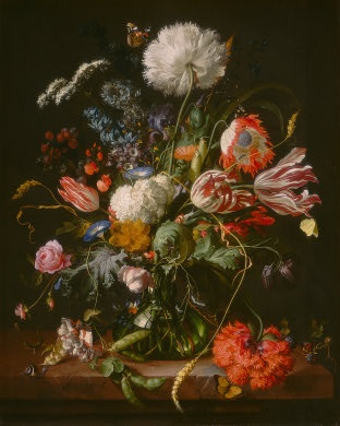Dutch still-life paintings amaze me. In person, the detail is unbelievable. It leaves me in awe. #art