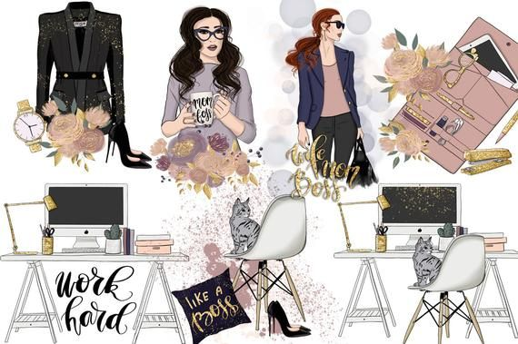 Planner Girl Clipart Fashion Clipart Boss Lady African
