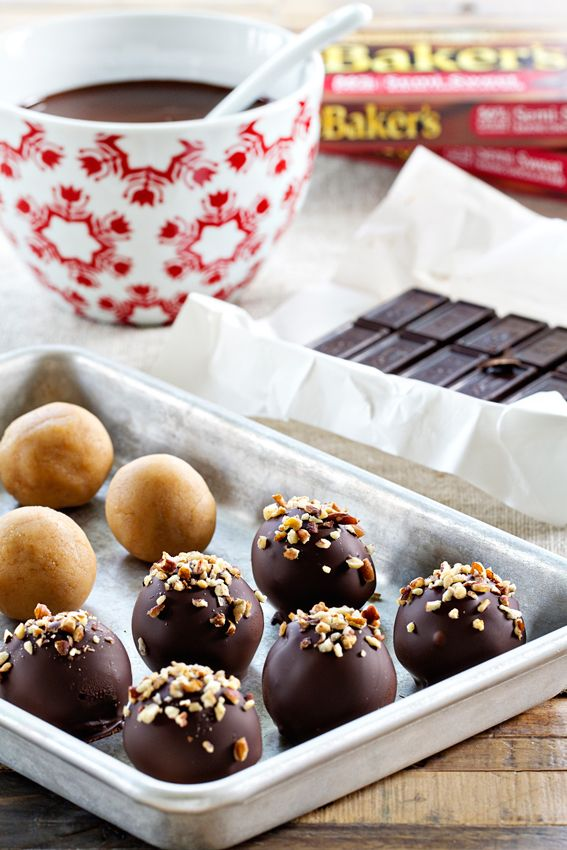 Turtle Cookie Balls couldn't be cuter as a make-ahead holiday treat. Sponsored by Baker's Chocolate.
