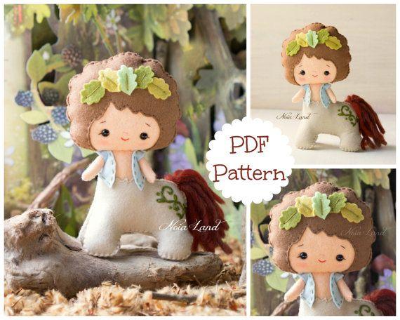 Greek Mythology. Centaur. PDF pattern. Felt doll.