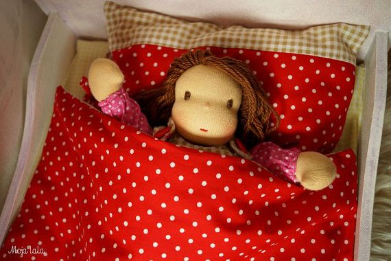Reserved. Bedding for doll. Bedding for Waldorf doll. by Mojalala