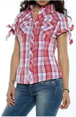 Kaporal 5 Women Short Sleeves Shirts Balix Corail In Red