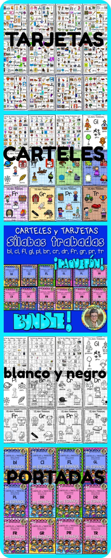 Bundle Consonant Blends L and R SÍLABAS TRABADAS en ESPAÑOL BL CL FL GL PL BR CR DR FR GR PR TR