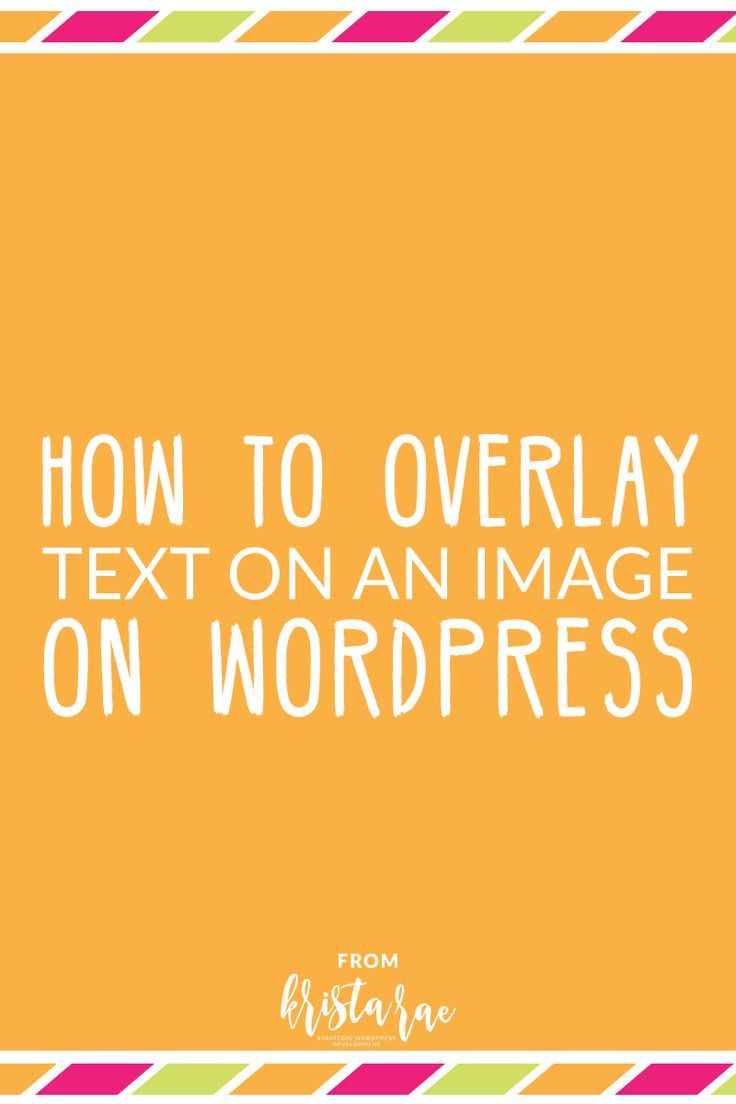 Adding overlay text on an image is a great way to draw some extra attention to a call-to-action or simply make a website look nice. Here's a written + video tutorial on how to overlay text on an image on WordPress! via @kristaraeblog