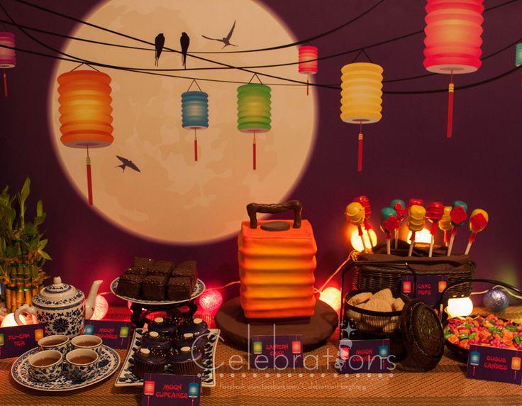 Mid Autumn Festival Dessert Table Also Known As Lantern