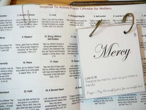 Scripture Prayer Calendar - Praying Mothers impact their children's lives for the kingdom of God.