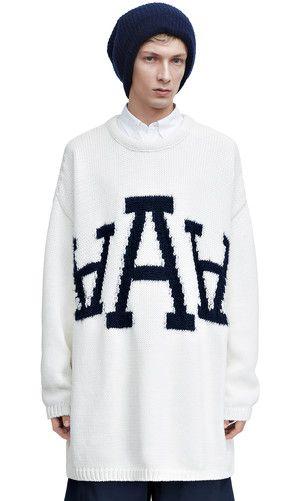 Dirk jaquard white #knitwear #men