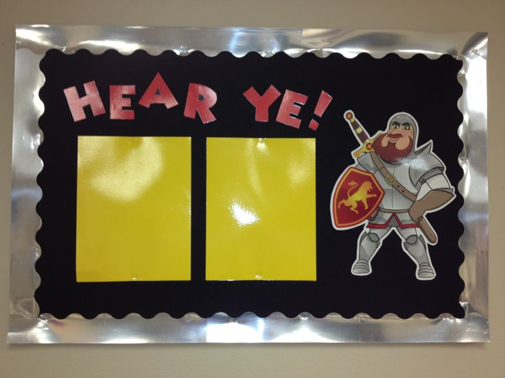 Literature Classroom Decor ~ Castle theme bulletin board medieval times pinterest