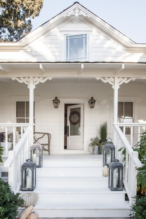 White Farmhouse Porch