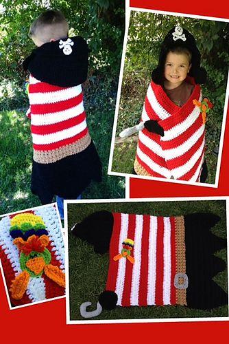 """Pirate Khyler's Hooded Blanket"" pattern by Heidi Yates...aaay Matey!"