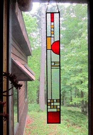 Stained glass panel a beautful addition to one's HOME, GARDEN, or WINDOW…