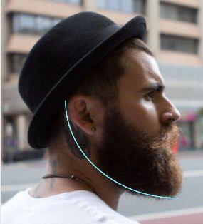 Good #picture to illustrate how to trim the #beard neckline #killtheshave #scotland #beardedbasturds #beardsofinstagram #beardseason
