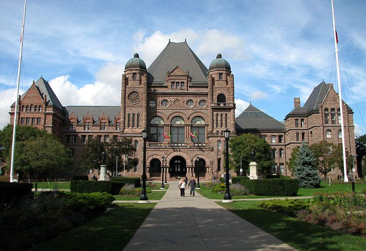 Ontario Legislative Building - Queen's Park - Toronto, Ontario, Canada. The building that's on the cover of RUSH's album: Moving Pictures.