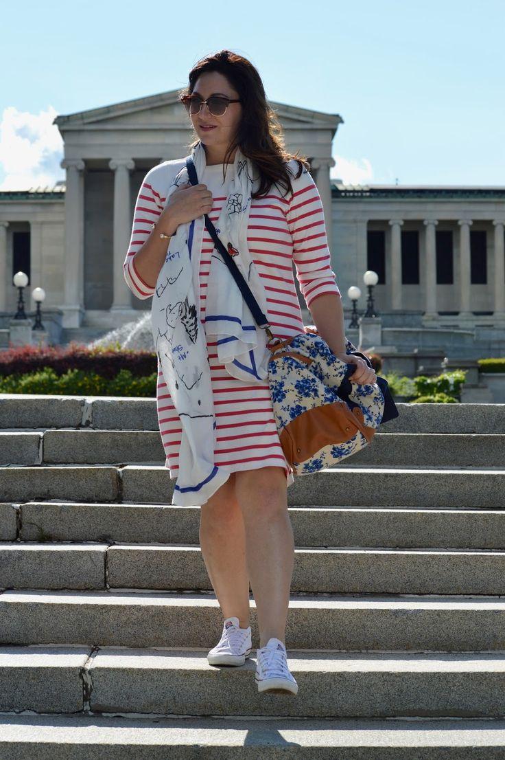 L.L.Bean stripe dress