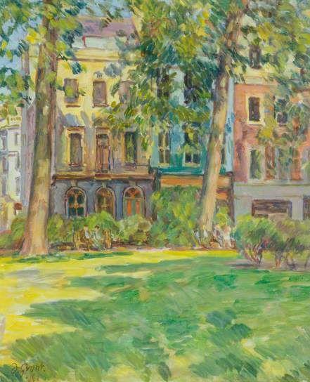 ✽ duncan grant - 'soho square' - 1961 oil on canvas