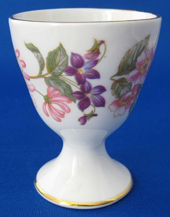 25% OFF Today!! Eggcup Paragon Honeysuckle Roses Single Pedestal Bone China 1970s