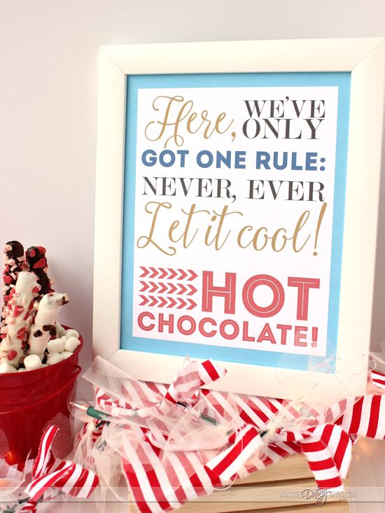 Polar Express Printable for a Hot Cocoa Bar- perfect for a Polar Express Family Night! (Classroom Christmas Party)