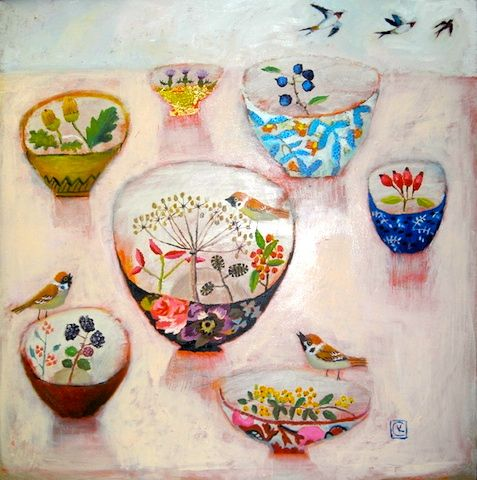 Birds and bowls.