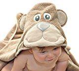 Little Tinkers World Baby-Badetuch / Kapuzenhandtuch im Bär -Design – 100% Flauschige Baumwolle – Perfekt als Geschenk für Neugeborene, Säuglinge, Kleinkinder, Mädchen & Jungen, 75x75 cm