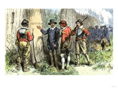 Roanoke island colony abandoned without a trace except croatoan