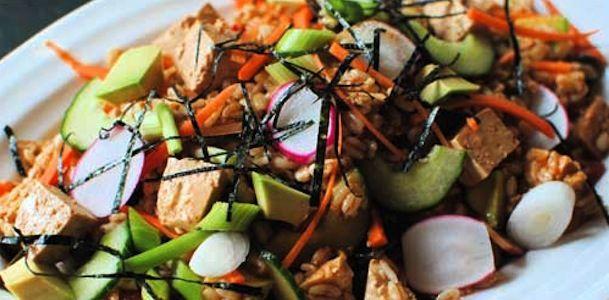 Grain salad, Tofu and Grains on Pinterest