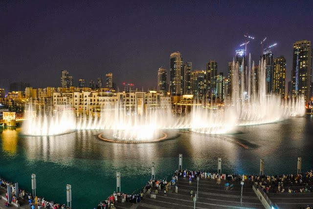 World largest fountain series in Dubai