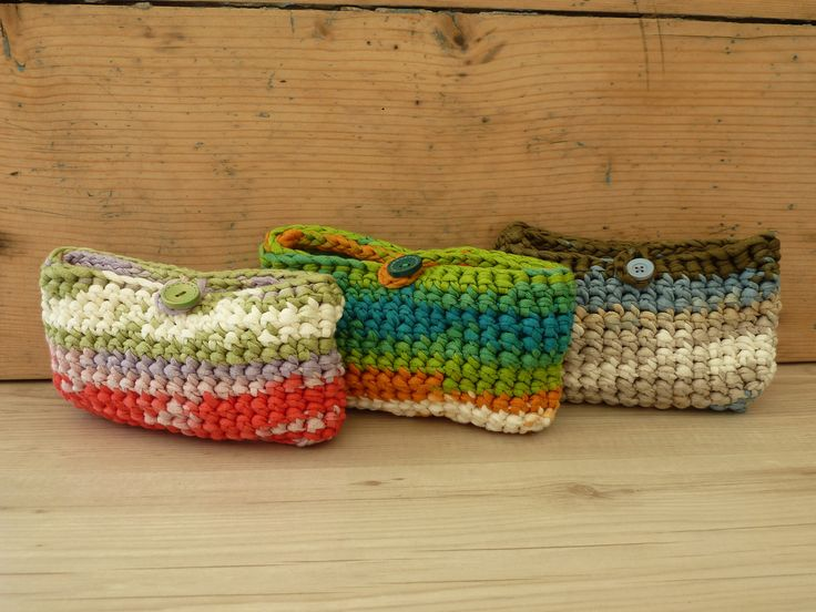 Pochette in fettuccia estiva multicolor : Astucci, miniborse di farfilocreando