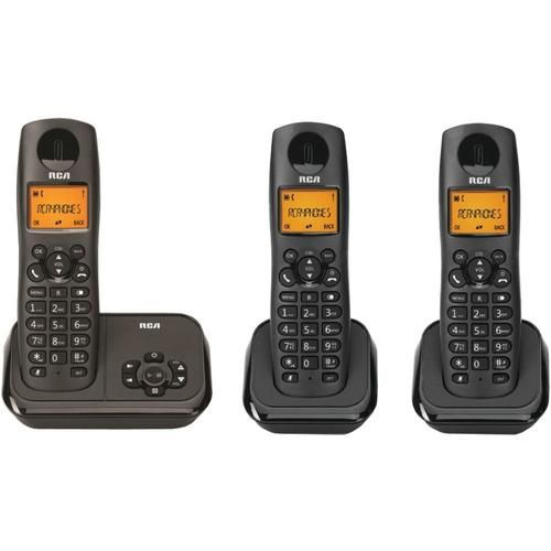 RCA 2162-3BKGA Element Series DECT 6.0 Cordless Phone with Caller ID & Digital Answering System (3-Handset System) - RCP21623BKGA
