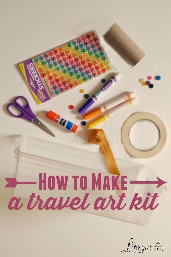 Help your children express their creativity on the go with these easy-to-assemble travel art boxes using items you probably already have laying around your house.