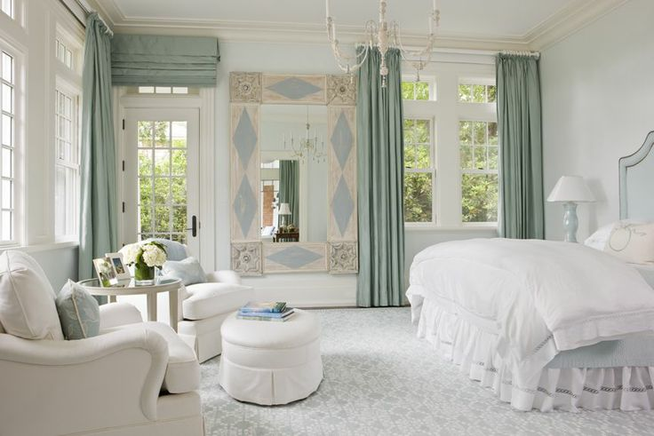Love this white and bright country bedroom design idea from SLC Interiors. #shabbychic