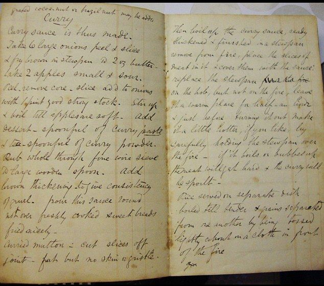 161-year-old recipe book written by Beatrix Potter - Gingerbread recipe.