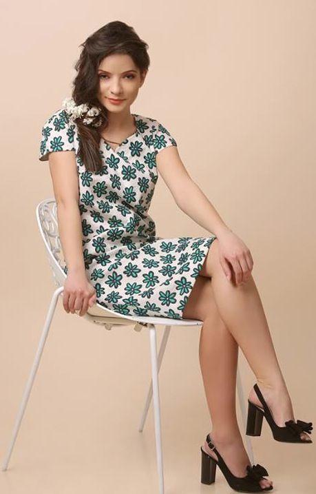 HANA dress Elastic cotton brocade & digital print with floral motifs Spring17 | YOKKO #gardenpary #floralprint #flowers #cotton #dress #fashion #style #women #beauty #spring17