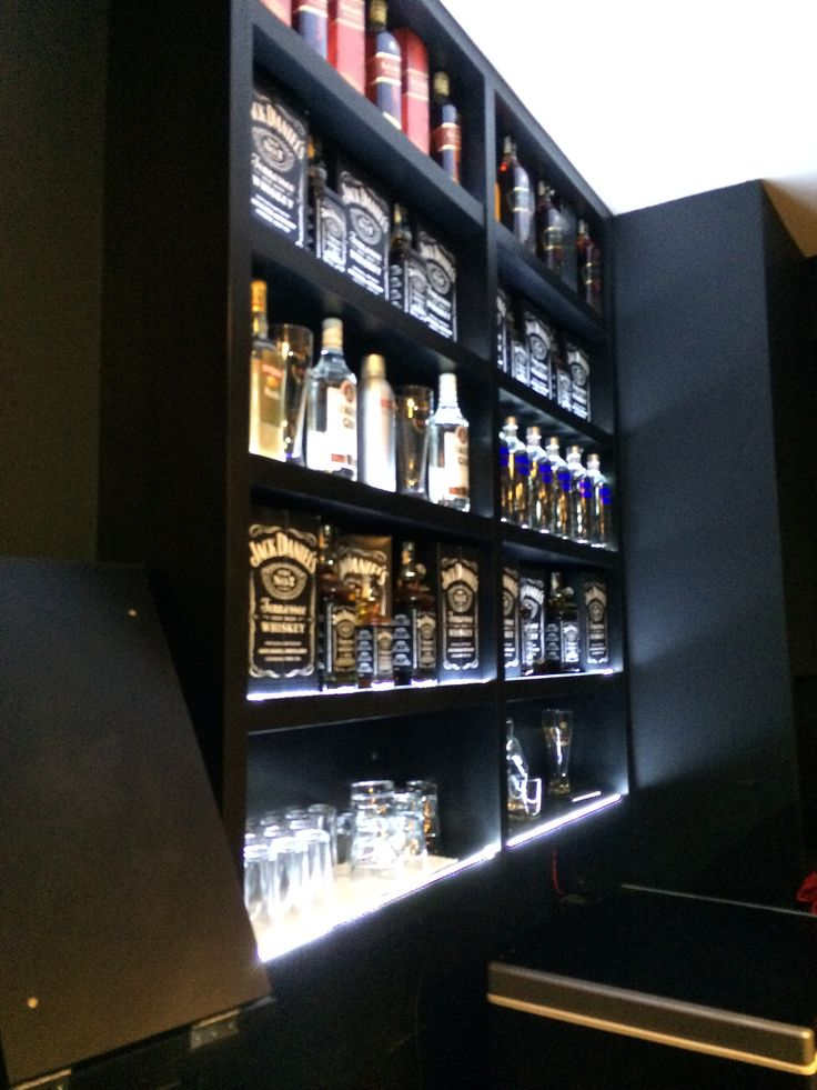 Liquor Bar Bebidas Led Lights Shelf Prateleiras