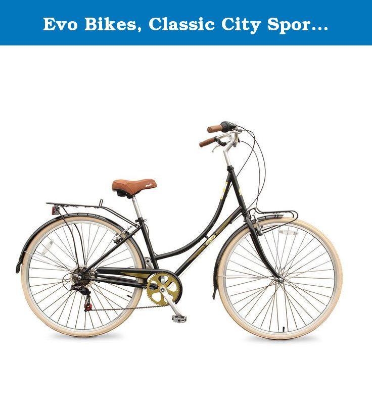 Evo Bikes Classic City Sport L City Bike Black Classic