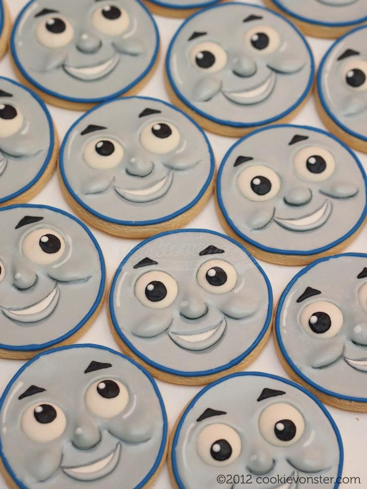 Cookievonster - Thomas the Train custom cookies