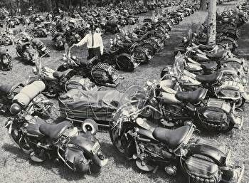 Harley-Davidson Museum Shop - '53 Motorcycle Line-Up : Posters and Framed Art Prints Available