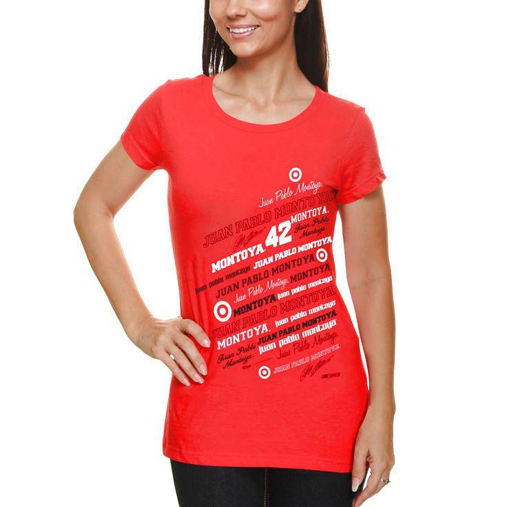 Chase Authentics Juan Pablo Montoya 2013 Women's Signature T-Shirt - Red - $16.14