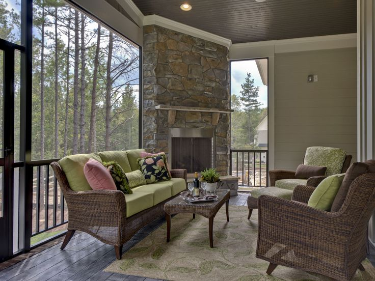 Pinterest Southern style homes  | The stone on this fireplace is Fieldstone style. The color is Luray.