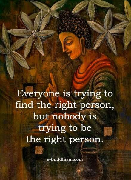I've tried to be the right person. I should have just tried to be myself.