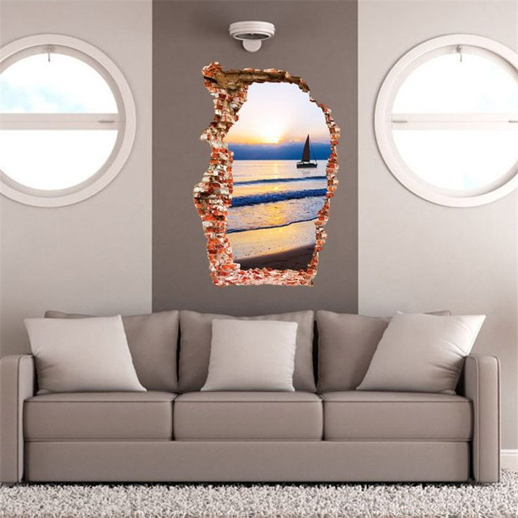 3D Removable Sailing Boat & Sunset Wall Sticker - Simply Adore