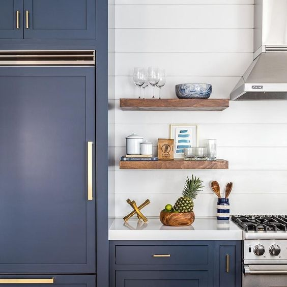 Navy Blue Shaker Cabinet Recessed Panel Shaker Style