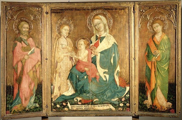 Salimbeni Lorenzo -Nozze Mistiche di Santa Caterina e i Santi Simone e Taddeo; Pietà; San Luca - San Severino Marche, 1374 ca. - 1420 - Marche, Italy