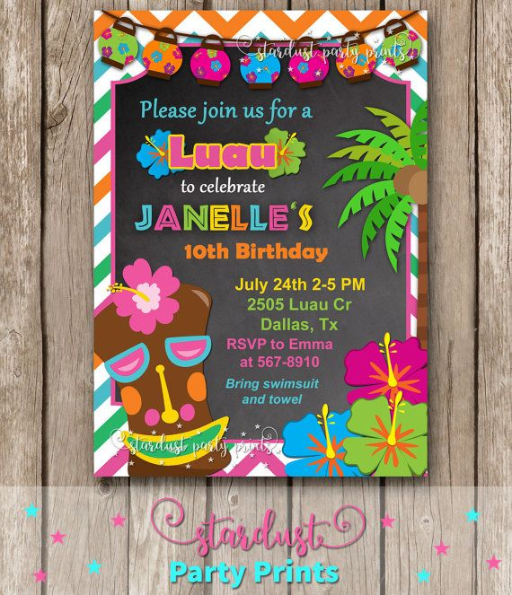 best 25+ luau party invitations ideas on pinterest | luau theme, Party invitations