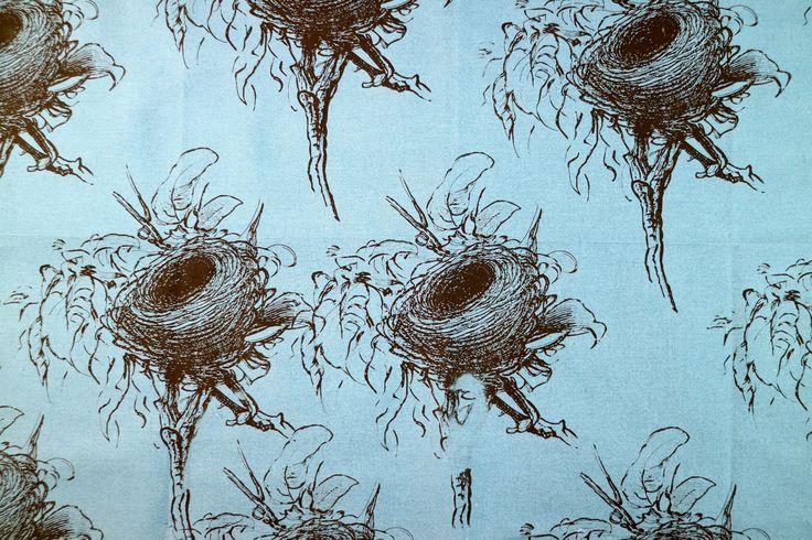 Fabric printed using the Screen Sensation + Bird's Nest screen