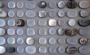 Detalj Omformasjon med formstøpt krystallglass og natursteiner. Underveis, 2014  Gunn Harbitz