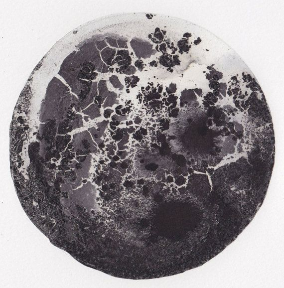 A5 Original Abstract Landscape/Planet Ink by ClaireBarrettStudio