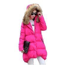 Новый 2016 Зимние Куртки Женщины Куртки Реального Большой мех Енота воротник Толстые Дамы Вниз Парки Большой размер Свободные Хлопок Пальто G2828(China (Mainland))